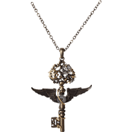 Keys transparent steampunk. Necklaces gear chokers and