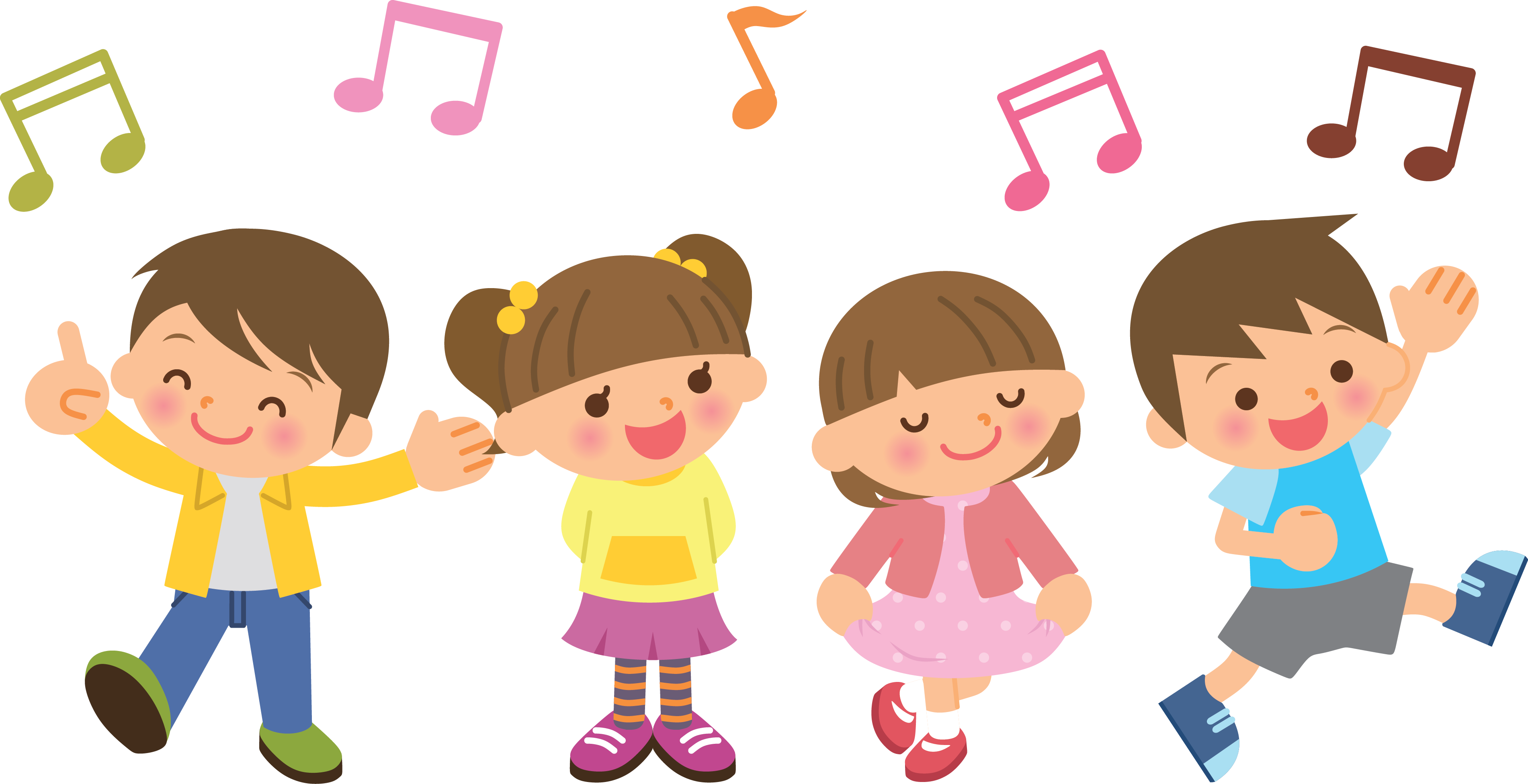The song shul children. Singer vector kids clip art transparent library