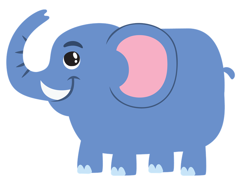 Zoo vector cartoon elephant. Free elephants images download