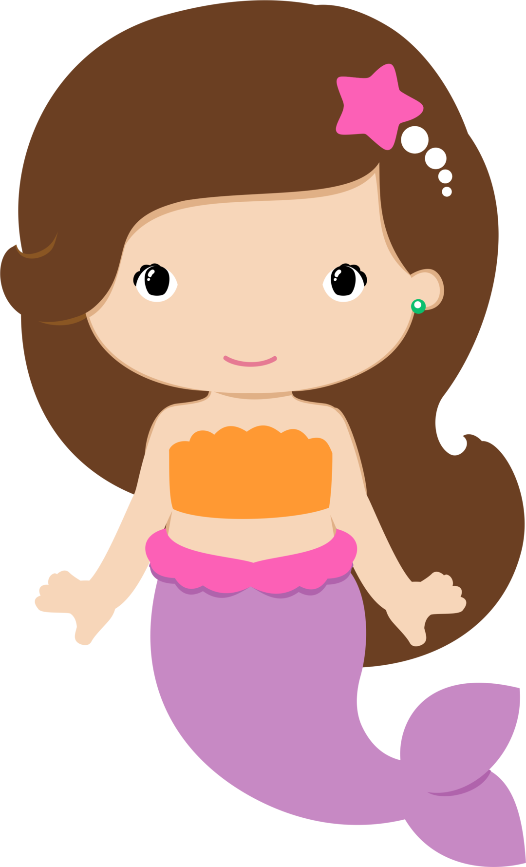 mermaid clipart clam