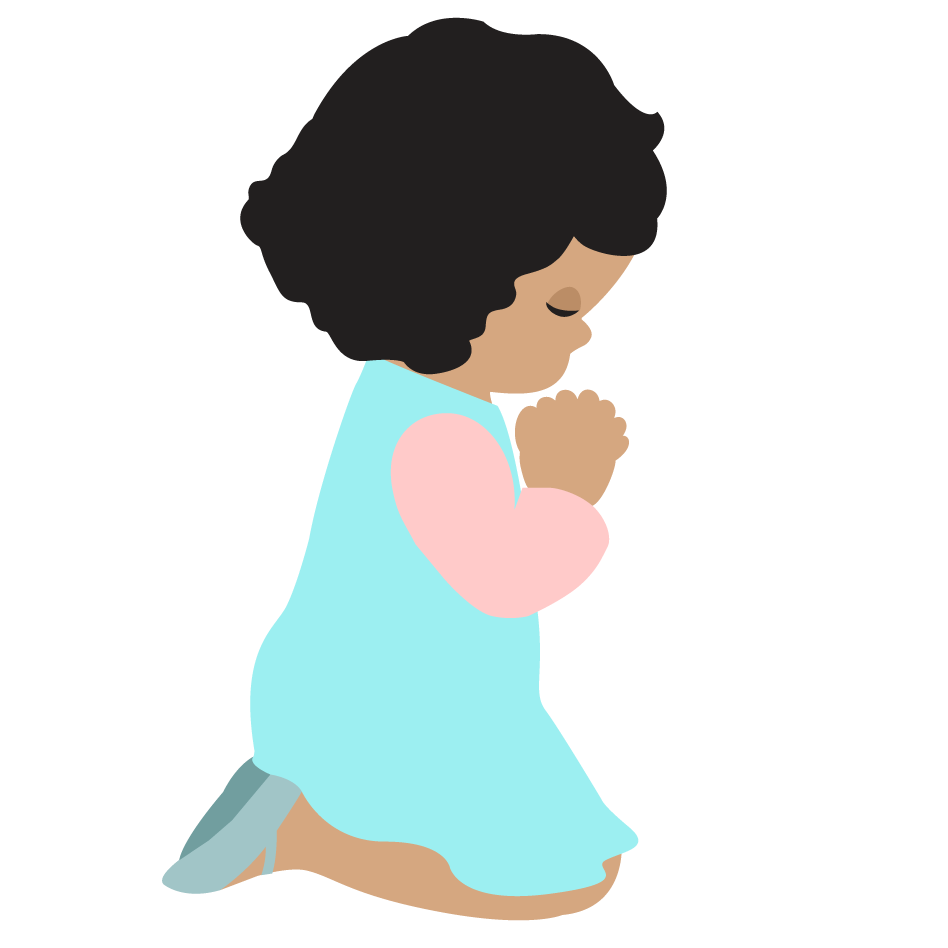 Images for child praying. Prayer clipart clipart black and white