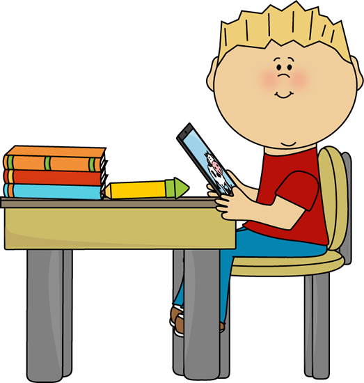 typing clipart boy