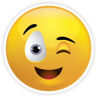 Winky face png. With tongue out emoticon