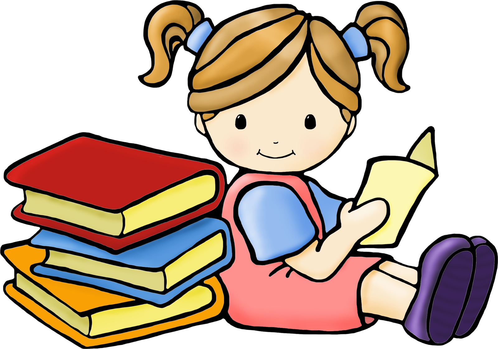 Kid reading png. Clip art images cindy