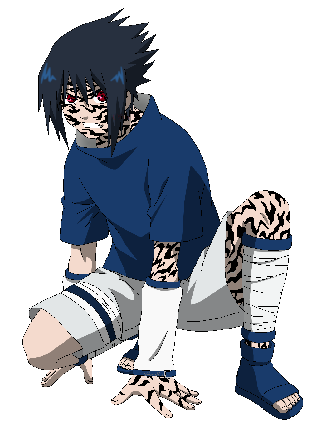 Kid sasuke png. Uchiha pts lineart colored