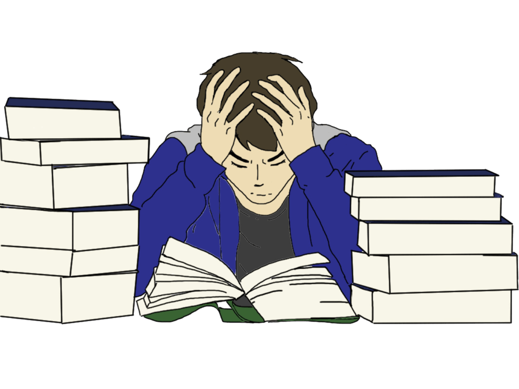 Kid stressing over homework clipart png. Stanford survey results allow