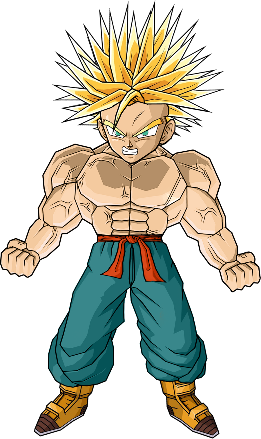 Kid trunks png. Image ultra ssj by