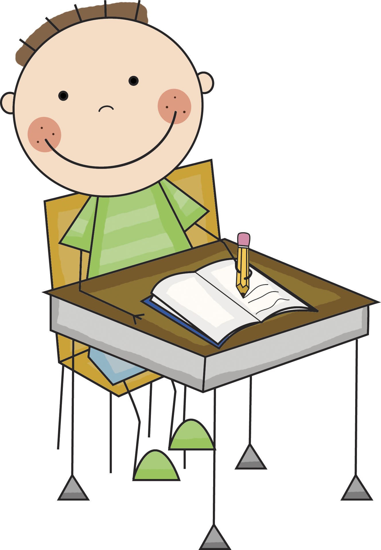 Kid writing png. Collection of clipart