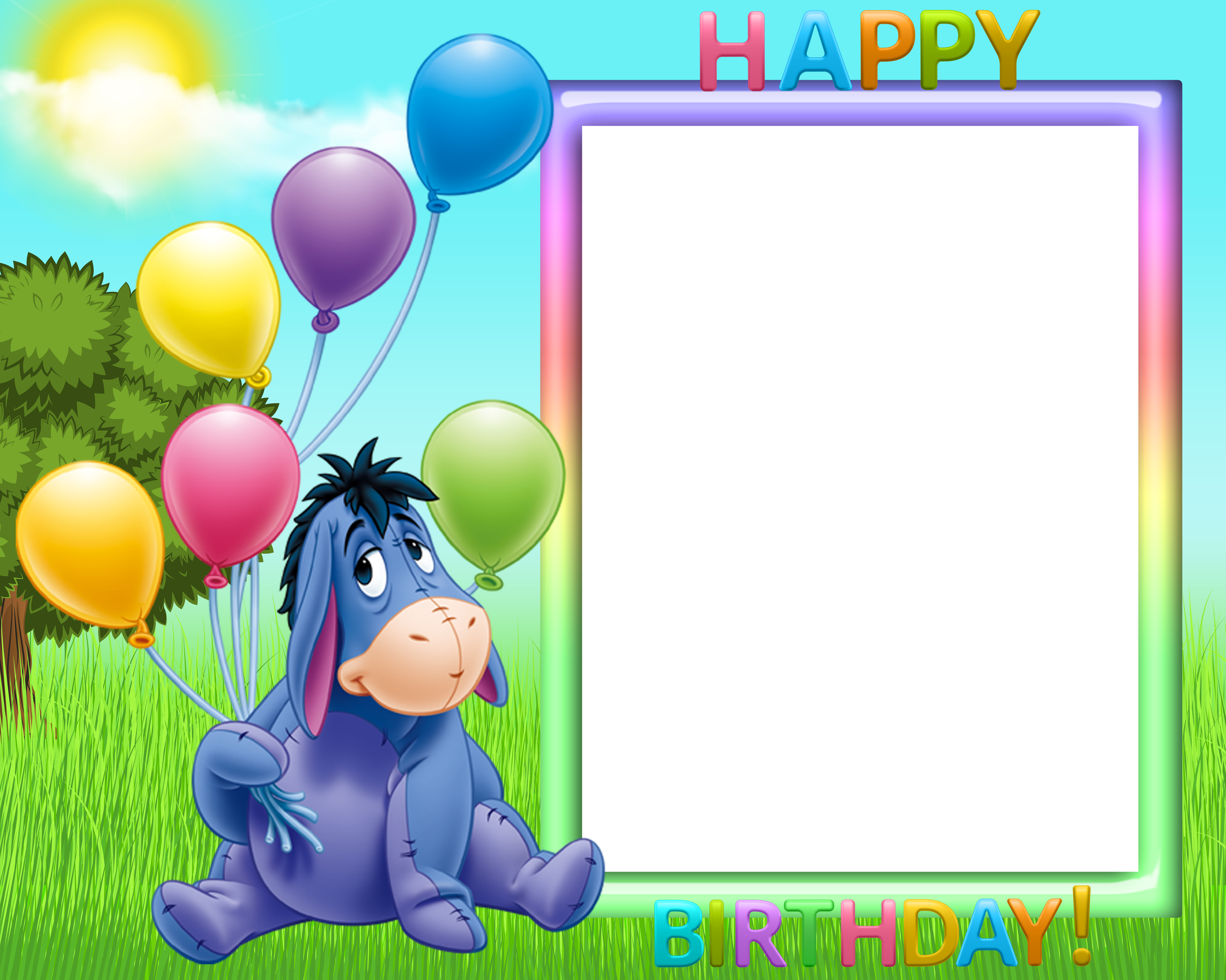 Png backgrounds for kids. Happy birthday transparent frame