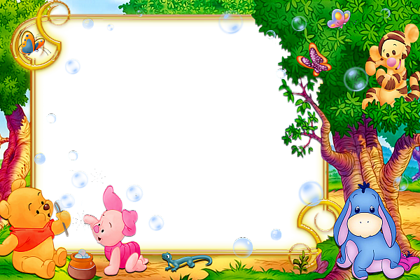Kids border png. Transparent frame with winnie