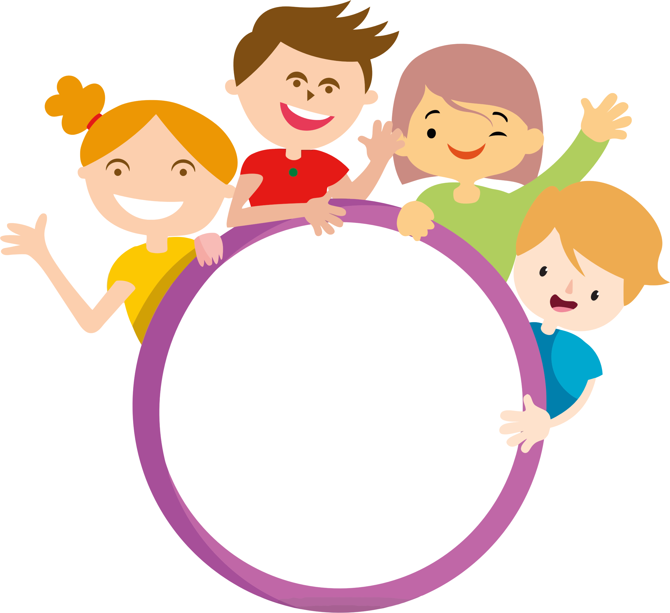 Kids cartoon png. Clipart four and circle