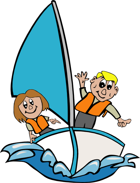 Sail clipart. Kids fishing boat panda