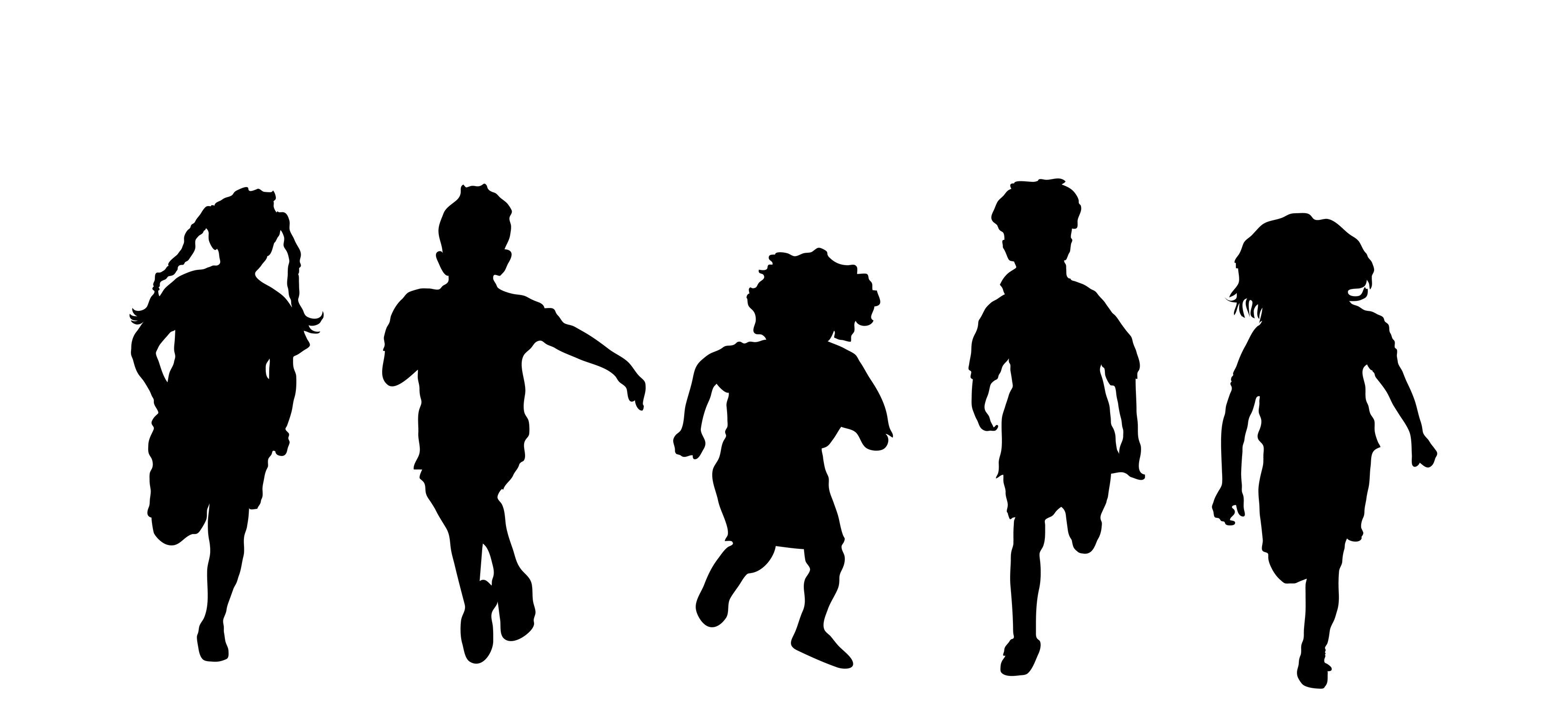 Youth clipart silhouette transparent background. Kids jumping at getdrawings
