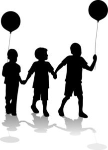 Kids clipart silhouette. Best images on