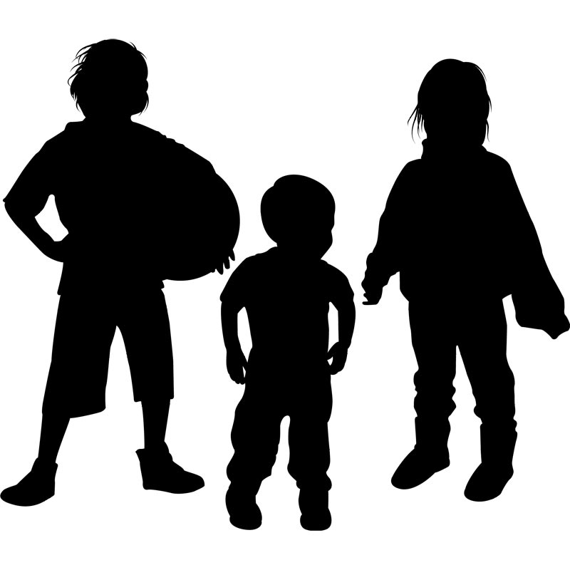 Kids clipart silhouette. Child playing at getdrawings