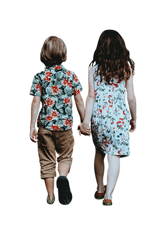 Kids holding hands png. Summer architecture people walking