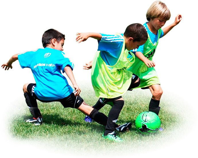 Kids playing soccer png. Team sport football player