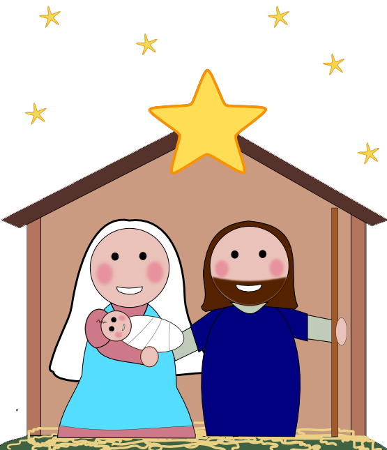 Kids transparent scene. Nativity jpg huge