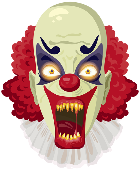 Killer clipart creepy clown. Scary png image halloween