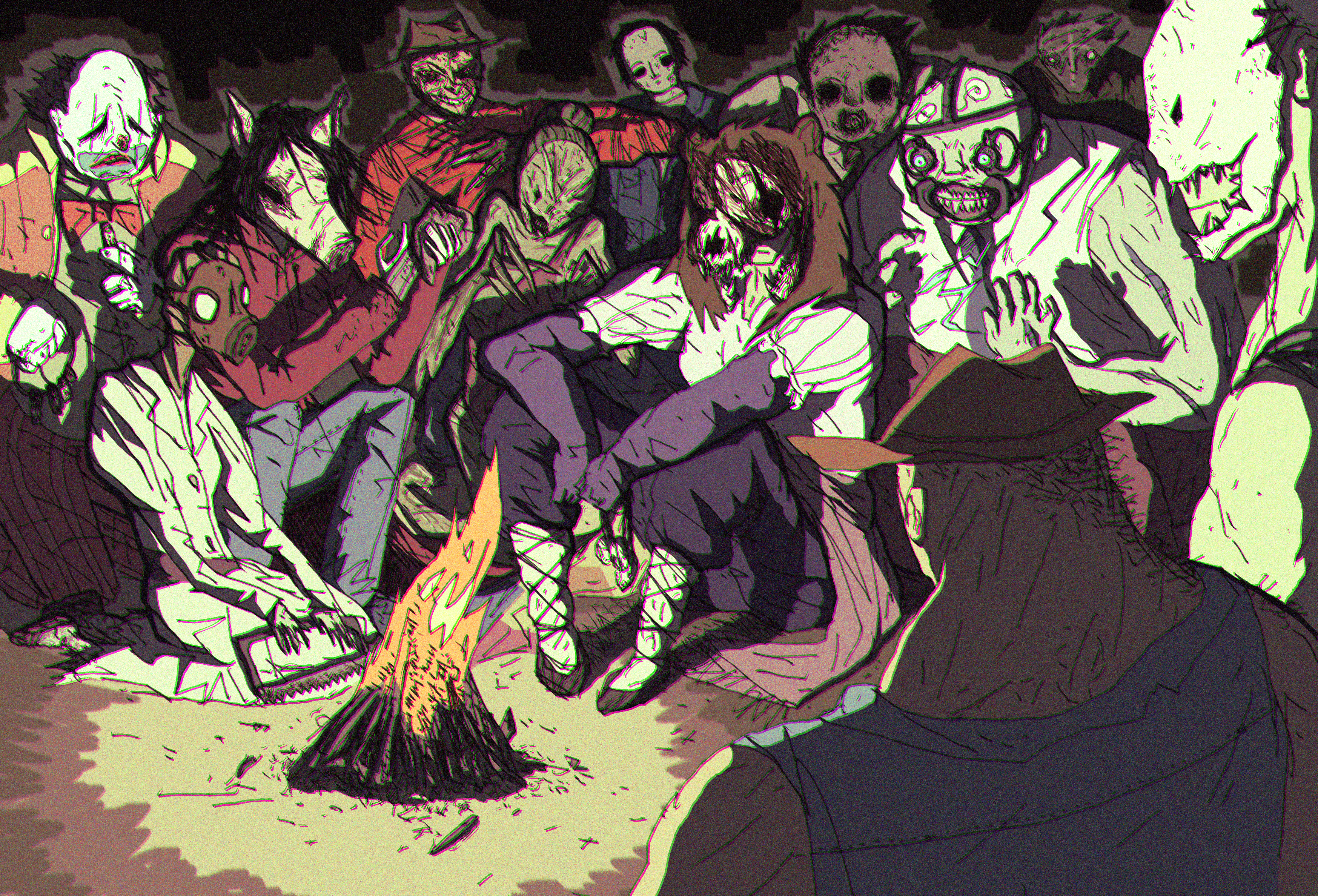 Killer drawing dead by daylight. Where the killers rest