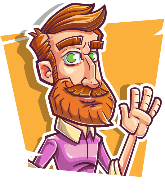 Vector modeling character. A handsome cartoon man
