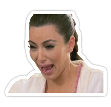 Kim kardashian break the internet png. Crying by sailorlolita stickers