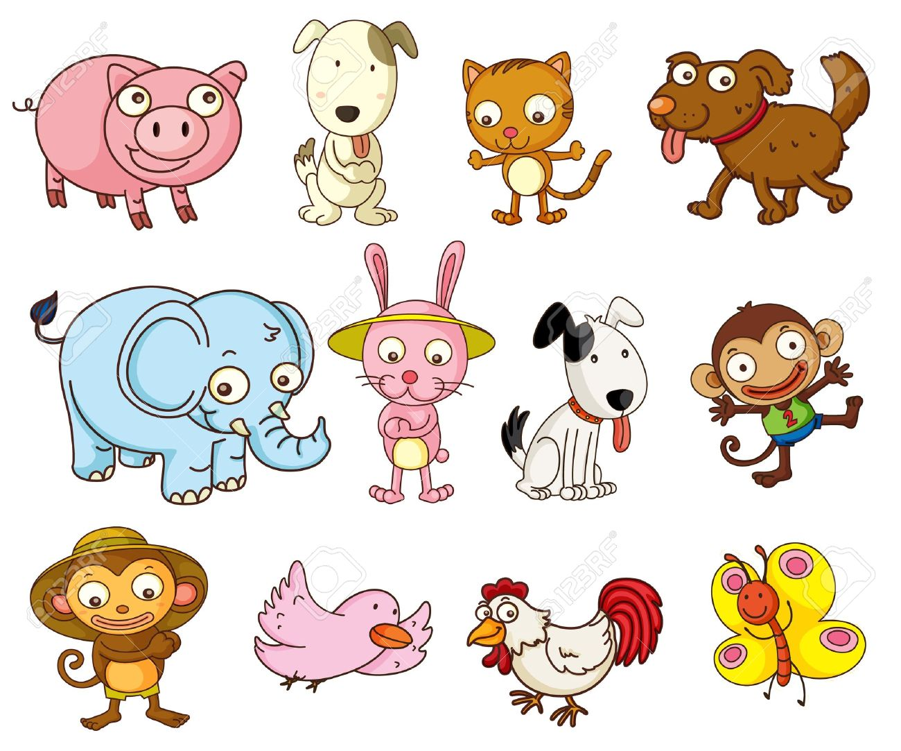 Kind clipart real animal. Illustration of different sea
