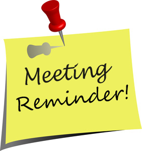 Reminder clipart board meeting. Clark county preschool page