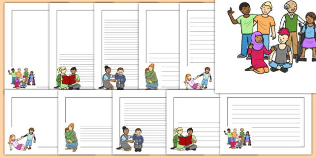 Kindness clipart border. Day page pack
