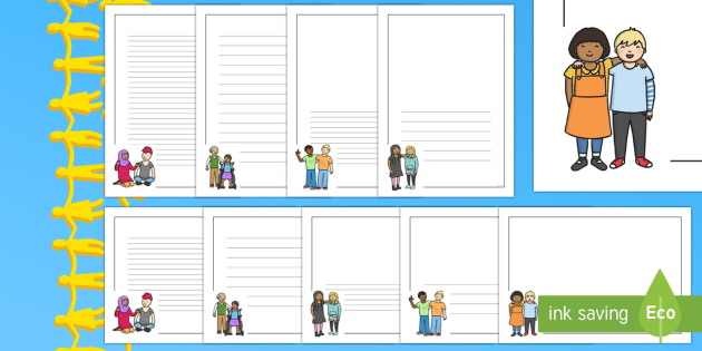 Kindness clipart border. Week page pack twinkl