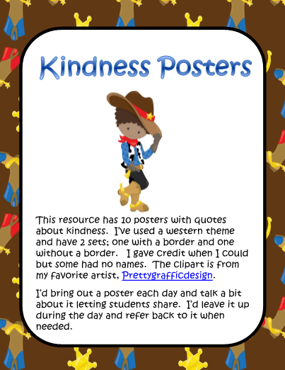 Kindness clipart border. Posters classroom pinterest western