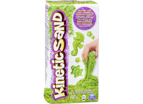 Kinetic drawing sand. Coloured green