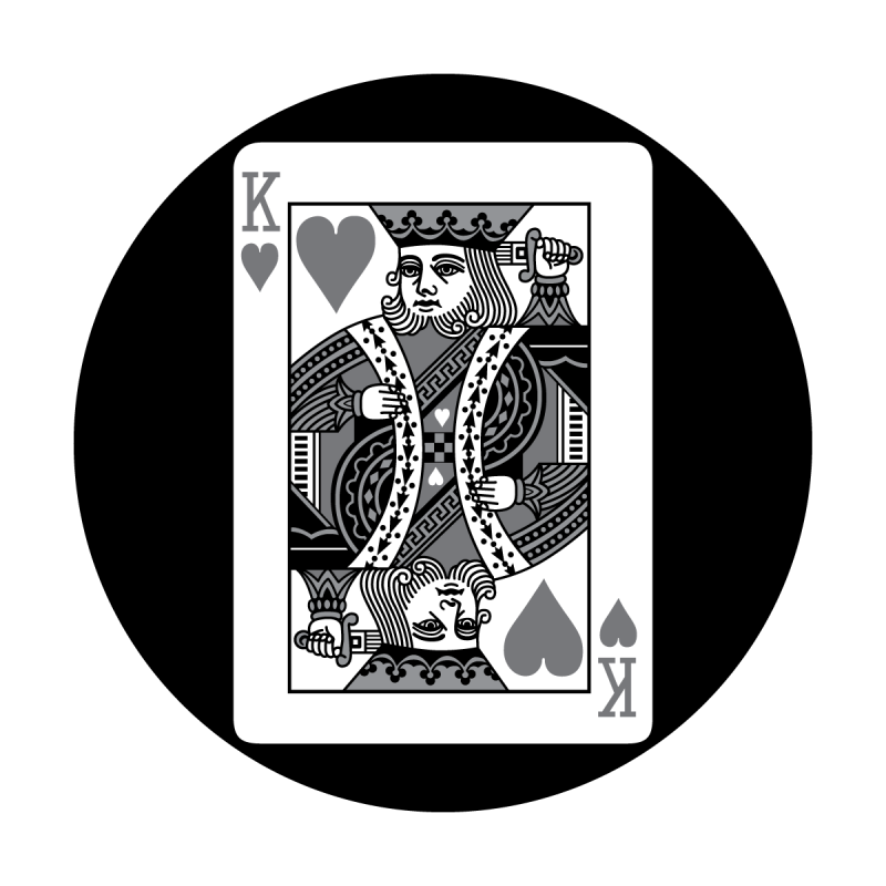 King card png. Detailed apollo design of