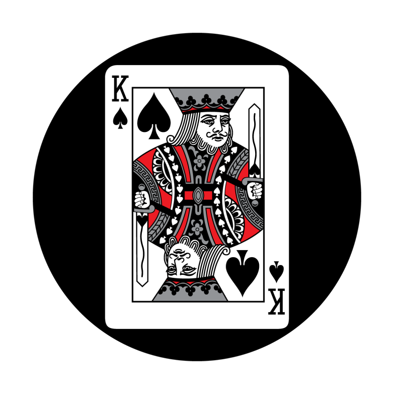 King card png. Red apollo design of