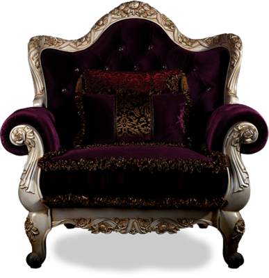 King chair png. Royal logo with