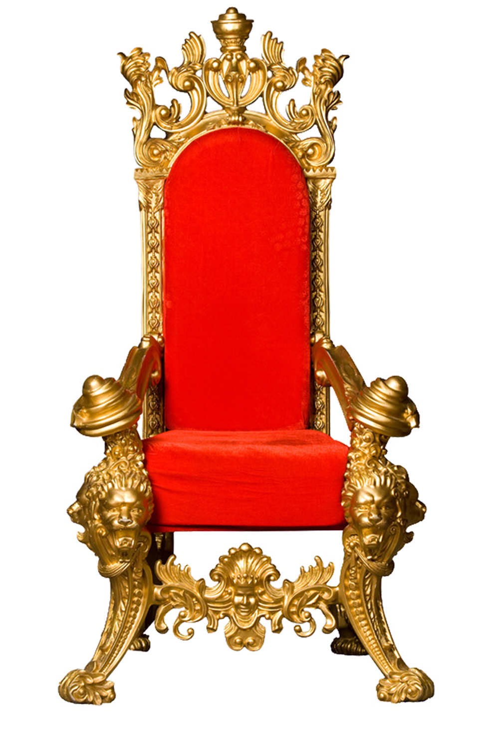 King chair png. Throne clip art red
