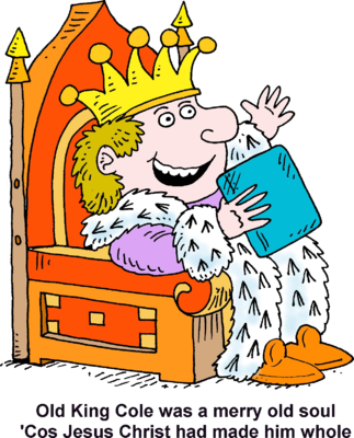 King clipart old king. On throne image download