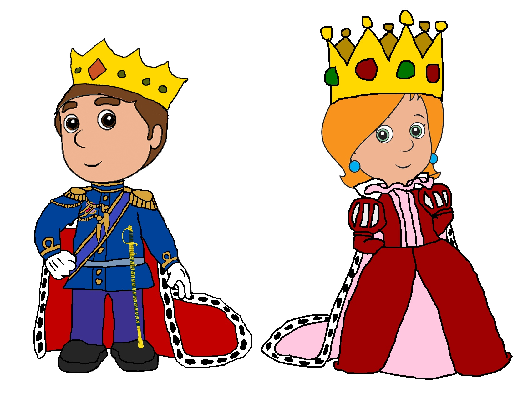 King clipart quenn. And queen clip art