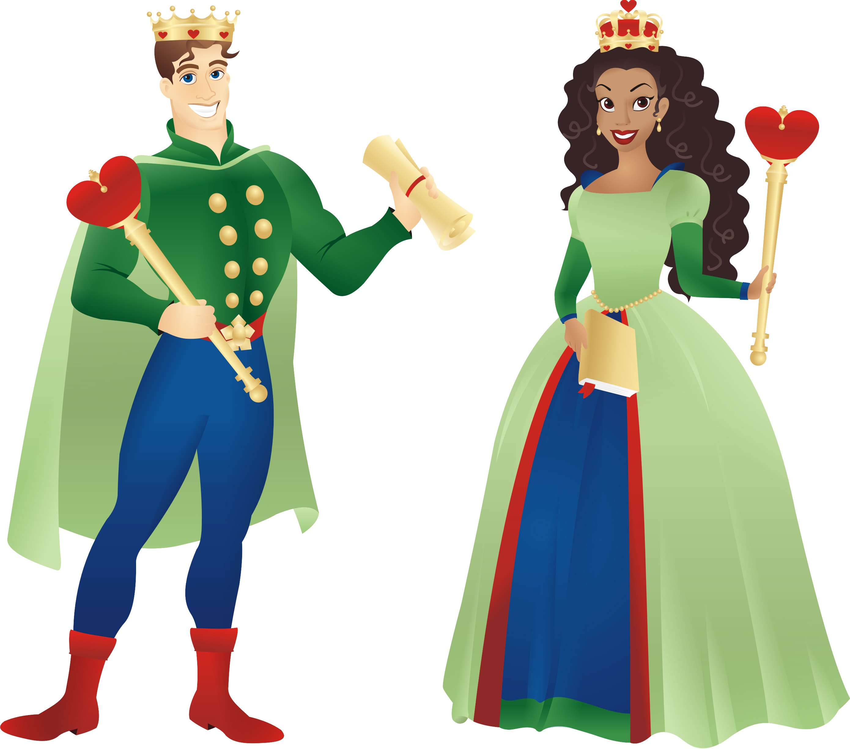 King clipart quenn. Cute queen