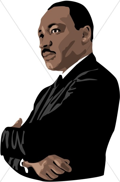 Mlk silhouette at getdrawings. Martin luther clipart banner royalty free