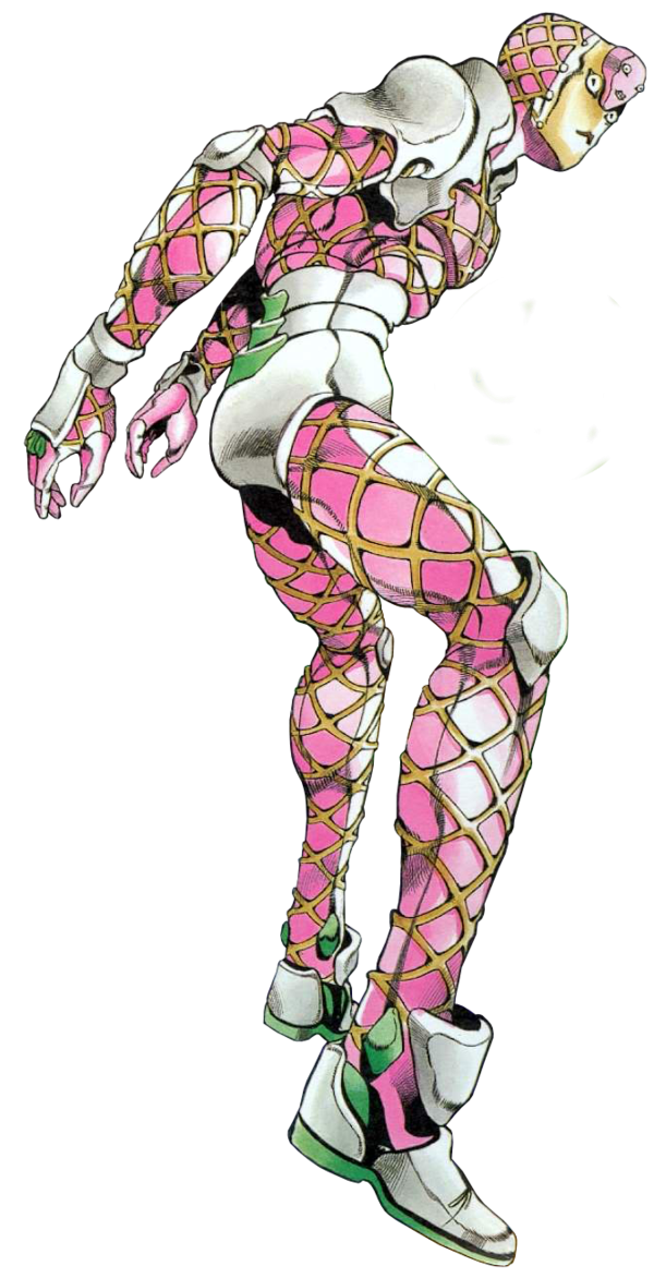 King crimson jojo png. Diavolo erases the time