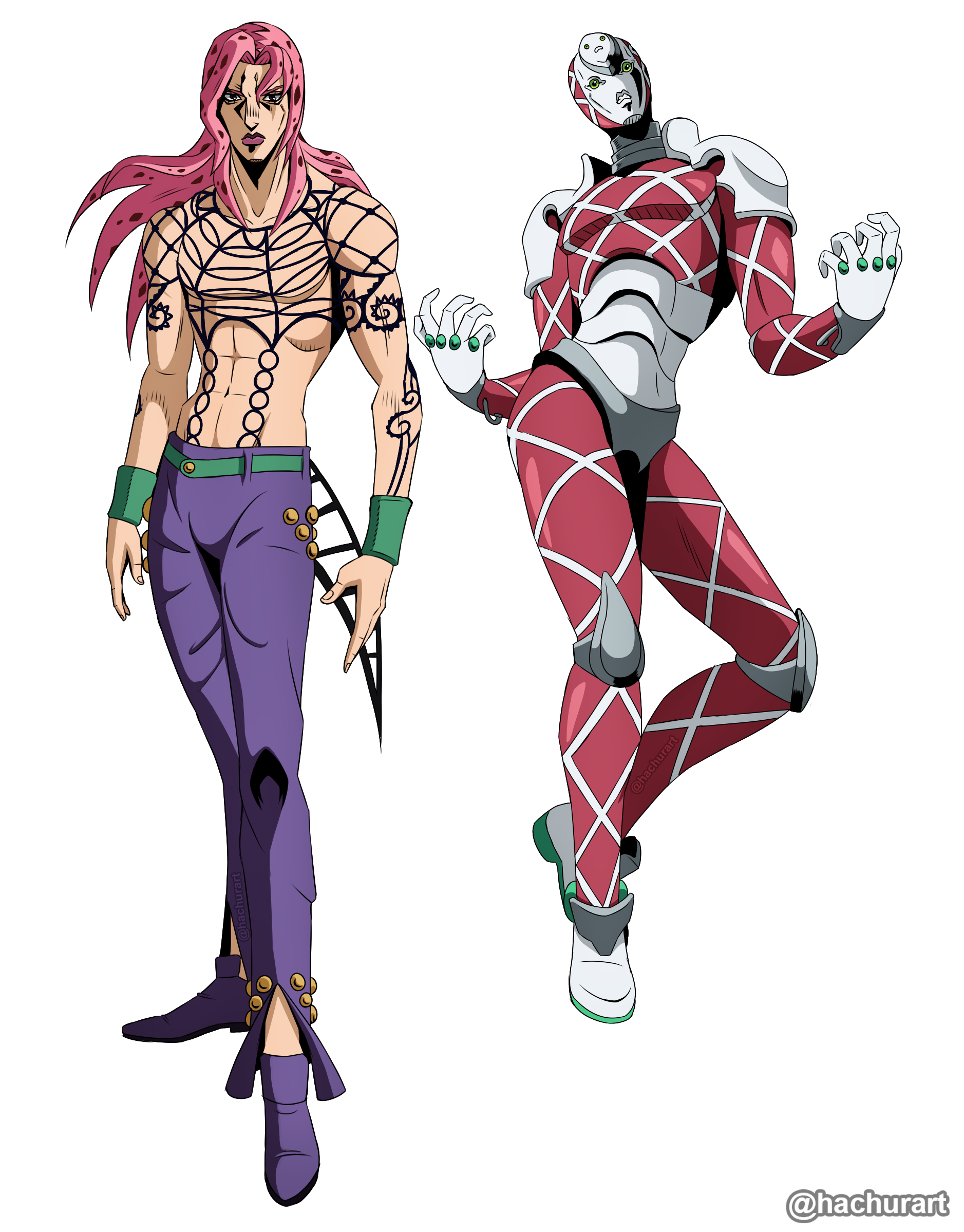 King crimson jojo png. Fanart diavolo and stardustcrusaders