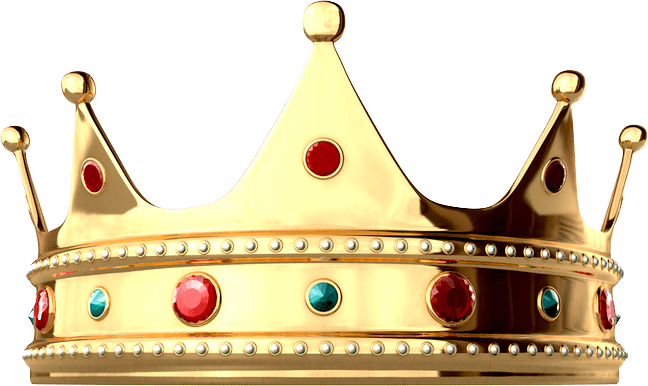 King crown png. Shiny transparent stickpng download