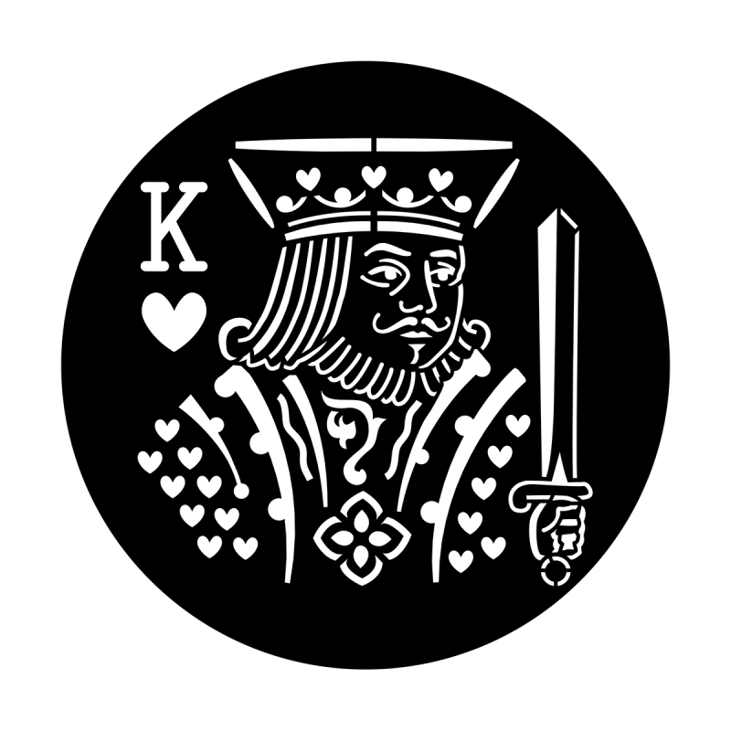 King of hearts png. Poker face apollo design