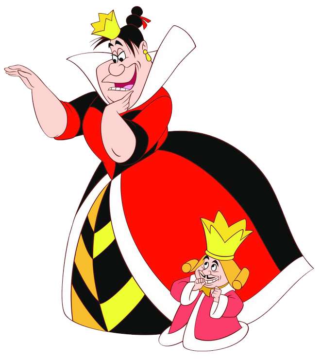 King of hearts png. Queen clipart alice in