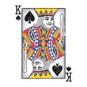 King of spades png. Playing card by andzoo