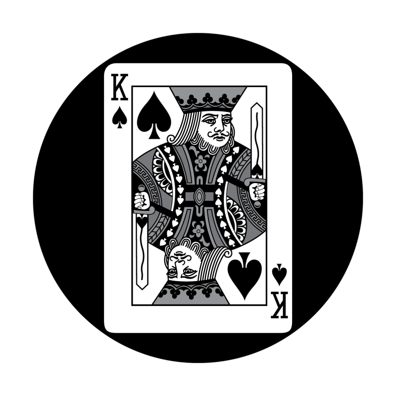 King of spades png. Detailed card apollo design