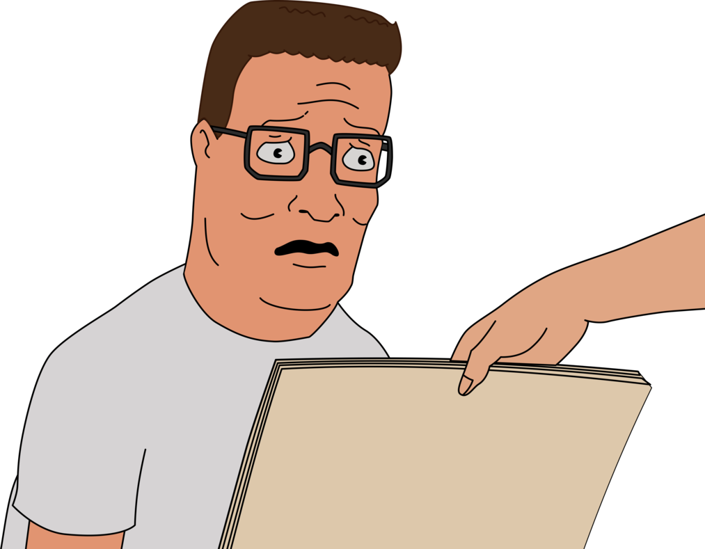King of the hill png. Distraught hank by glitchmaster