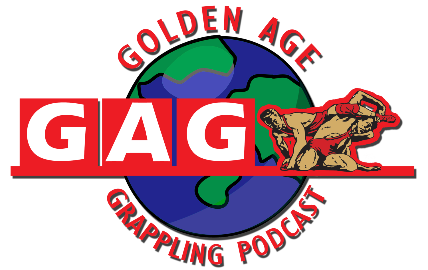 King of the ring png. Golden age grappling podcast