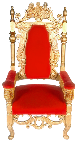 King throne png. Transparent red clipart clip